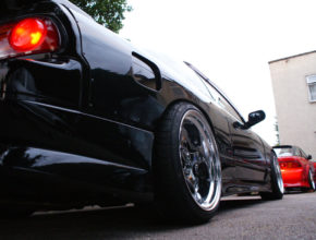 180sx rear wheel fitment detail