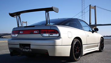 A smart silver Nissan 180sx Sil80 conversion