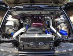 Nissan 180sx with Silvia PS13 front end conversion