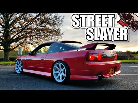 ? THE STREET SLAYER! HKS UPGRADED 180SX S13 REVIEW
