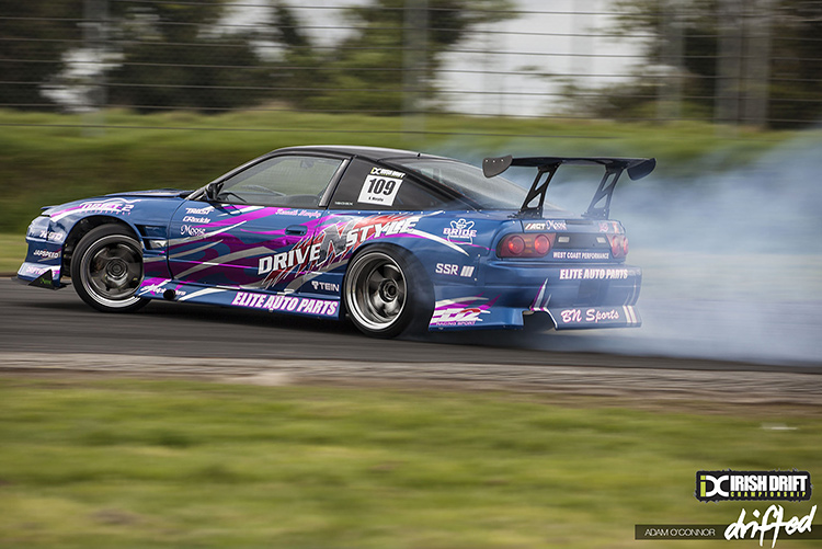 180sx blue drift car