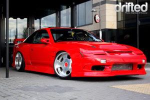 red 180sx kouki front
