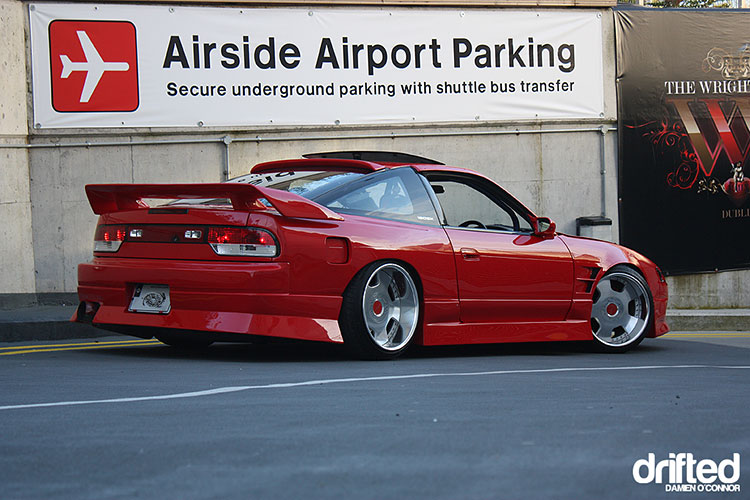 red widebody 180sx kouki