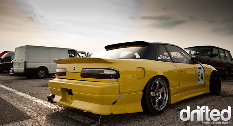 yellow silvia ps13 overfenders